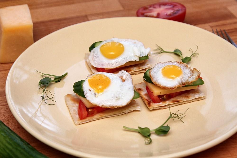 Завтрак из перепелиных яиц