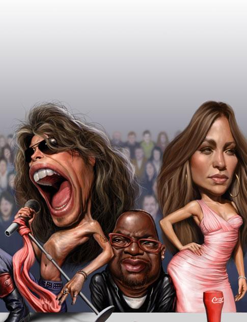 Звезды и их карикатуры от художника Court Jones