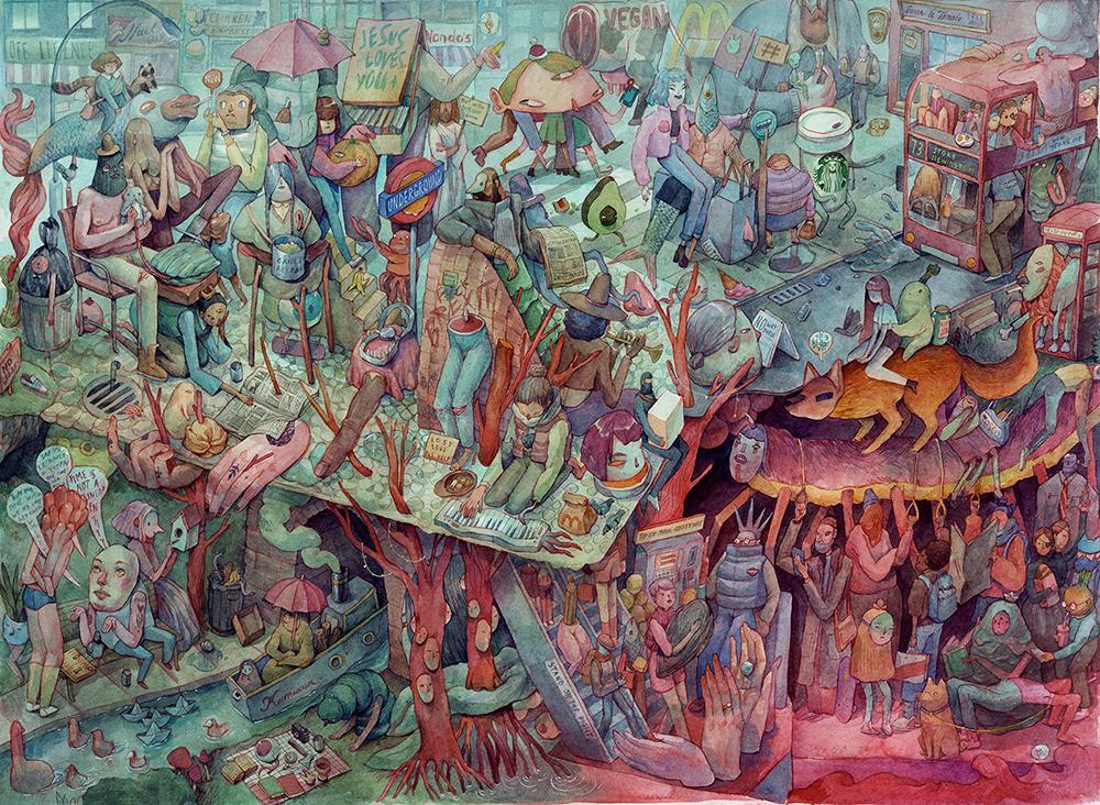 Впечатляющие картины  акварелью художницы Марии Тюриной