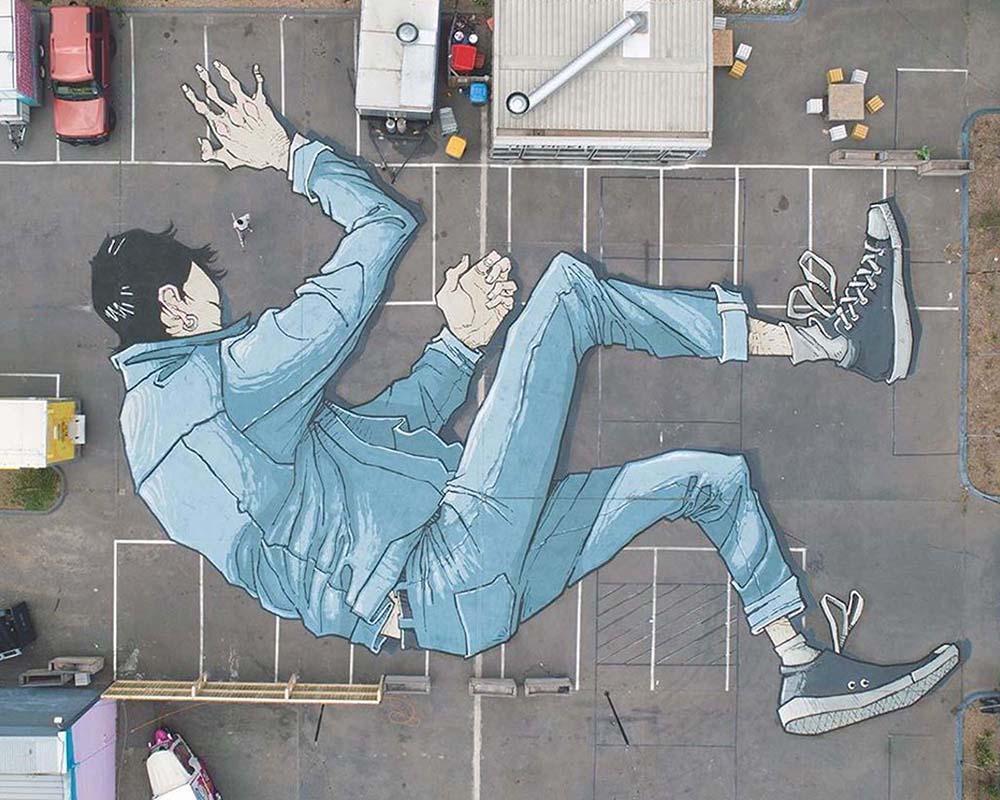 Гиганские картины художника Китта Беннетта